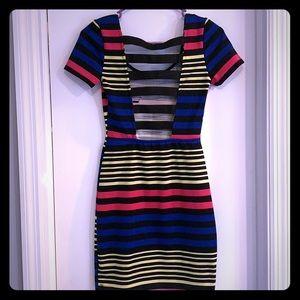 Bright Stripes Mini Dress